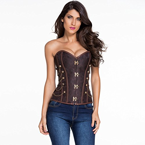 meinice-14-steel-bones-brown-steampunk-corset-with-thong-xl