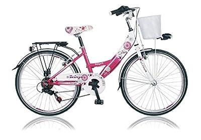 """24"""" 24 ZOLL Kinder City Fahrrad Kinderfahrrad Cityfahrrad Mädchenfahrrad Rad Bike DIVA PINK"""