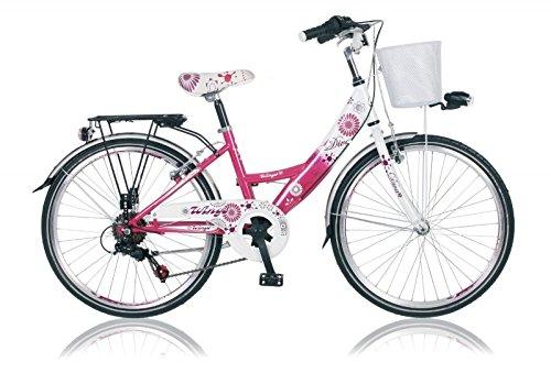 "Unbekannt 24\"" 24 Zoll Kinder City Fahrrad Kinderfahrrad Cityfahrrad Mädchenfahrrad Rad Bike Diva PINK"