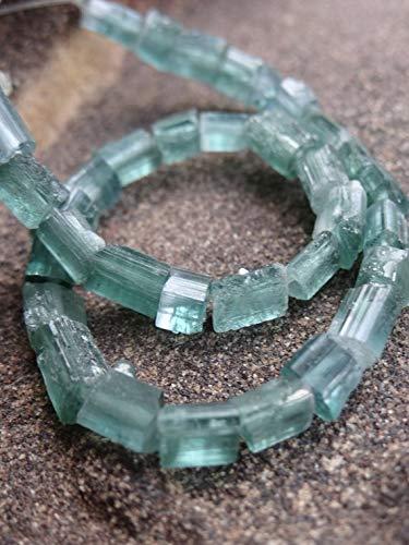 LOVEKUSH 50% Off Gemstone Jewellery Beautiful Rare Afghan Blue Indicolite  Tourmaline | Center Drilled Raw Barrel Sticks | ~6 5-10x~4 5mm | Sold in