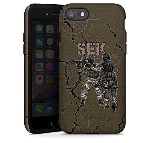 Apple iPhone X Silikon Hülle Case Schutzhülle SEK Polizei Soldat Tough Case glänzend