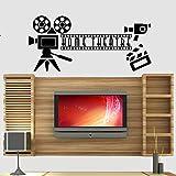 CDNY Decoración de la Sala de Cine en casa Teatro Oferta Pegatinas de Pared Dormitorio Arte Pegatinas calcomanías Autoadhesivas de Goma 123x56cm