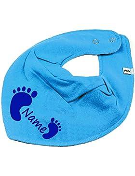 Elefantasie Halstuch Füßchen mit Namen oder Text personalisiert für Baby oder Kind Verschiedene Ausführungen