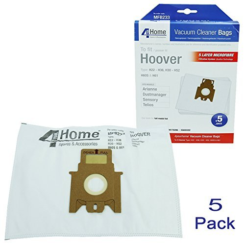 first4spares-5-x-microfibre-pure-hepa-vacuum-cleaner-dust-bags-for-hoover-dustmaster-eco-g-pets-enig