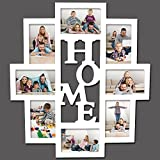 Woltu BR9610 Bilderrahmen Collage , Holz Rahmen , für 8 Bilder , 10x15cm Fotos , Home , weiss