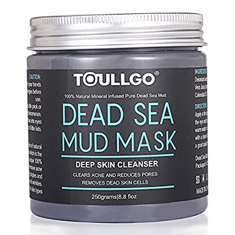 Dead Sea Mud Mask, Beauty Dead Sea Mud Mask for Facial Treatment, 100% Natural and Organic Deep Skin Cleanser for Face, Acne, Oily Skin Blackheads, Care for dry and Improve skin Complexion 250g / 8.8 fl.oz
