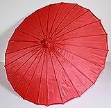 AAF Nommel ® Deko- Sonnenschirm aus Holz in rot, einfarbig transparent, 101