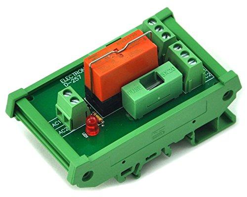 Electronics-Salon Montage sur rail DIN Fusible DPDT 8A Relais d'alimentation Module d'interface, bobine AC Relais 230V.
