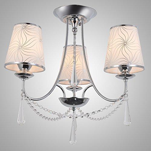 OOFAY LIGHT 3 Lichter, Kristall Modern Chandelier mit Lampenschirm, Crystal & Glass -
