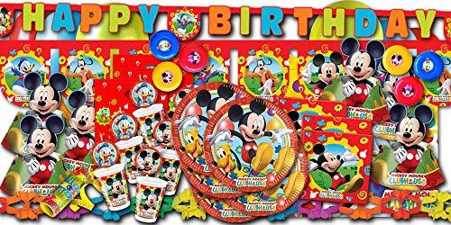 Mickey Mouse Partyset XXL - Partydeko & Partygeschirr im Sparset (Maus Geburtstag Micky)