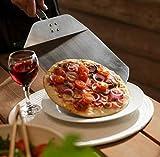 MUSTANG Pizzaheber, Pizzaschaufel mit Holz Klappgriff Stiellänge 32cm Edelstahl