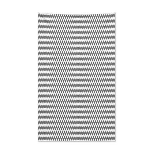 ABAKUHAUS Schwarz und weiß Wandteppich und Tagesdecke, Chevron-Muster aus Weiches Mikrofaser Stoff Kein Verblassen Klare Farben Waschbar, 140 x 230 cm, Weiß Schwarz (Und Schwarz Chevron Weiß Tagesdecke)