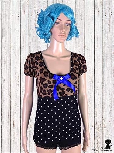Eve Leopard (Jersey Top Cheryl Rockabilly Leo Stars Bow)