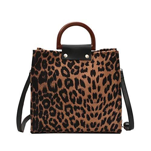 Binchil Bolsos de Leopardo para Mujer Bolsos de Cuero de Gran Capacidad para Mujeres Bolsos de Mensajero para Mujer de Leopardo Bolsos con Asas para Mujer, MarróN