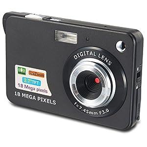 Aberg Best 18 mega pixels HD Digital Camera - Digital video camera - Students cameras - Students Camcorder - Handheld Sized Digital Camcorder Indoor Outdoor for Adult /Seniors / Teens / Unisex Children / Kids (black)