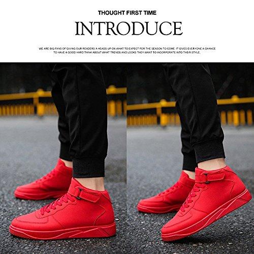 XIAOLIN- Chaussures De Marée Société Esprit Guy Chaussures Pour Hommes Chaussures Rouges ( Couleur : Noir , taille : EU/41/UK7.5-8/CN42 ) Rouge
