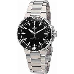 Oris Aquis negro Dial Automático Mens Reloj 0173377304154–0782405peb