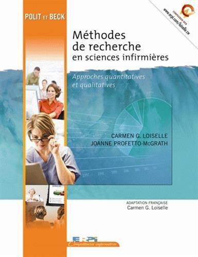 Méthodes de recherche en sciences infirmières : Approches quantitatives et qualitatives