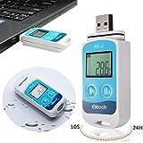 Rungao Mini USB Temp Rekorder Temperatur Datenlogger Wasserdichter Thermometer, Datenlogger, Messgerät mit RC-5-Recorder und internem Sensor