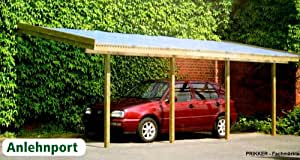 anlehncarport carport eifel i 350x600cm bausatz anlehn. Black Bedroom Furniture Sets. Home Design Ideas