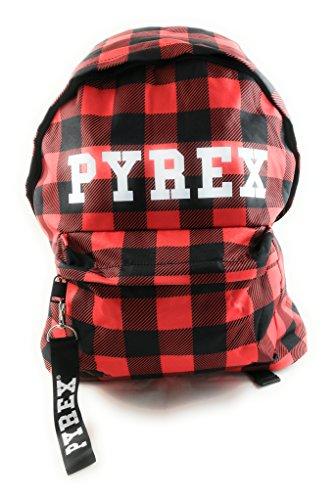 Pyrex py18503 zaino unisex tartan rosso/nero