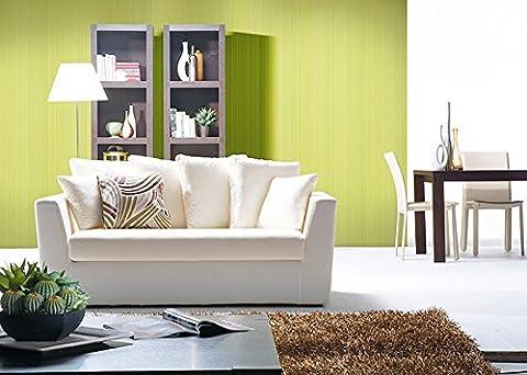 Uni-Tapete EDEM 598-25 Geprägte Tapete strukturiert mit Streifen matt gelb-grün schwefel-gelb 5,33 m2