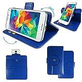 HUAWEI Y 635 / Y600 Smartphone Tasche / Schutzhülle mit 360° Dreh und Standfunktion - 360 Blau Nano M