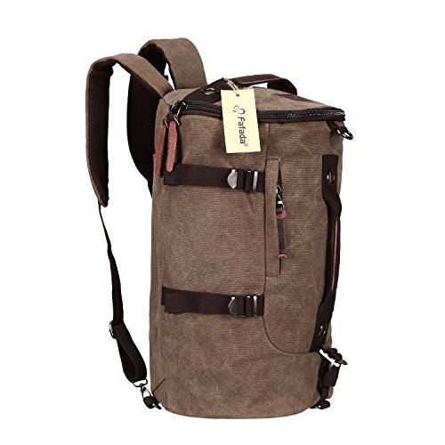 Imagen de fafada bolso  lona saco de viaje bolsa de viaje bolsa de deporte bolsa de libros cartera escolar marr¨®n