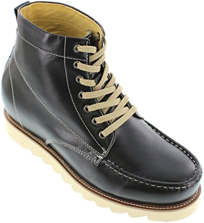 TOTO A1812 – 8,4 cm – – – altezza aumentare ascensore scarpe alte (in pelle nera con lacci per stivali mic-toe) | Cheap  | Uomini/Donna Scarpa  93017d