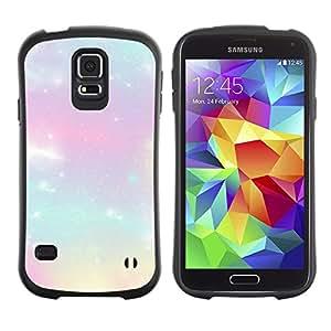 Paccase / Weich TPU GEL Hülle Schutz Etui für - stars glitter purple clouds nebula cosmos - Samsung Galaxy S5 SM-G900
