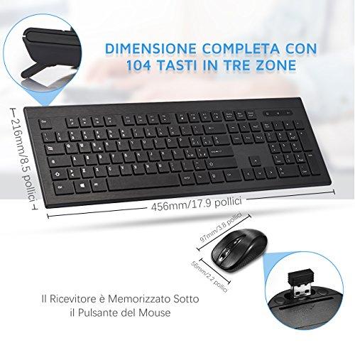 Zoom IMG-3 topelek tastiera e mouse wireless
