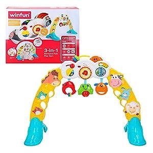 Winfun - Gimnasio para bebés con figuras de animales y luz & sonido (ColorBaby 44530)