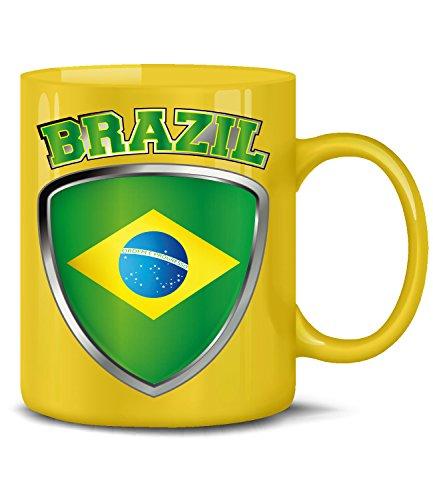 sil Fan Artikel 4723 Fuss Ball Welt Europa Meisterschaft WM 2022 Kaffee Tasse Becher Geschenk Ideen Fahne Flagge Team Gelb ()