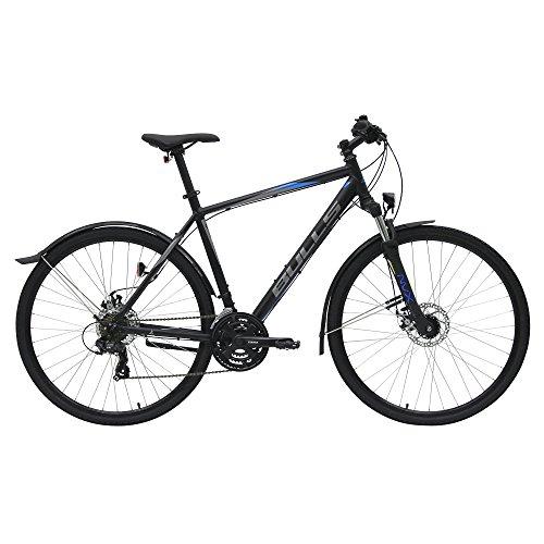 Bulls Wildcross Street 2018 Herren 28 Zoll Cross - Straßenbike mit Beleuchtung, Farbe:schwarz, Rahmenhöhe:54 cm
