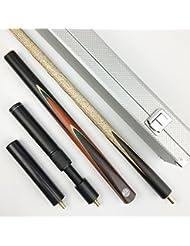Ash 144,8cm handgefertigt 3/4Snooker-Queue, 15,2cm Mini-Butt und Verlängerung, schwarz oder weiß Leder Fall, Lancer YP