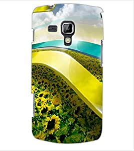 ColourCraft Lovely Flowers Design Back Case Cover for SAMSUNG GALAXY S DUOS S7562