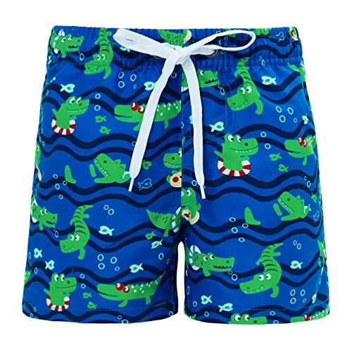 Funnycokid Teens Jungen Badeshorts Sommer Bedrucktes Krokodil Schnelltrocknend Elastic Waist Drawstring Kinder Strang Badeshorts - Klassische Drawstring Shorts