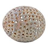 Hashcart fabriquée à la main en marbre doté d'en forme d'œuf avec éléphant à l'intérieur pour décoration intérieure/papier cadeau/Poids