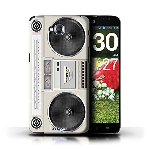 Kobalt® Imprimé Etui / Coque pour LG G Pro Lite/D680 / Boombox conception / Série Retro Tech Boombox