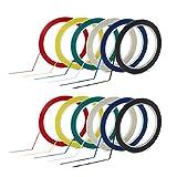 PrettyDate Lot de 12rouleaux de ruban adhésifs colorés de 3mm de largeur pour tableau blanc, six couleurs