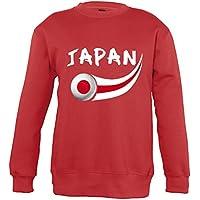 Supportershop–Sweatshirt Japón Mixta Infantil, Rojo, FR: XL (Talla Fabricante: 10años)