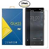 [2Pack] Displayschutzfolie Gehärtetem Glas Nokia 3–ta-1020–Bildschirm stoßfest kratzfest