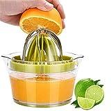 DQM Spremiagrumi al Limone, spremiagrumi Manuale con misurino Incorporato e grattugia, Design per la Cucina salvaspazio Essenziale