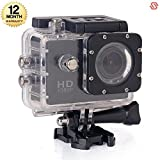 #4: Supreno FULL HD 12MP Waterproof Action Camera Compatible with all Android and iOS smartphones (365 days Warranty)