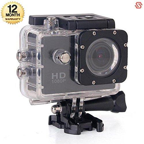 Supreno FULL HD 12MP Waterproof Action Camera Compatible with Xiaomi, Lenovo, Apple, Samsung, Sony, Oppo, Gionee, Vivo Smartphones (365 days Warranty)