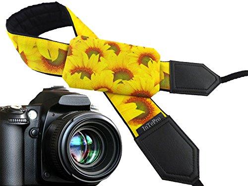 Floral Scarf Belt (Sonnenblumen Pocket Kameragurt. Blumen. Gelb und Bright. Floral Kameragurt für Nikon, Canon, Fuji, Pentax, Sony usw. Fashion Zubehör, und 00387)