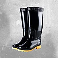 Giow High-Profile Plastic Water Shoes, Protective Rain Boots Mesh Sleeve Non-Slip Waterproof Breathable