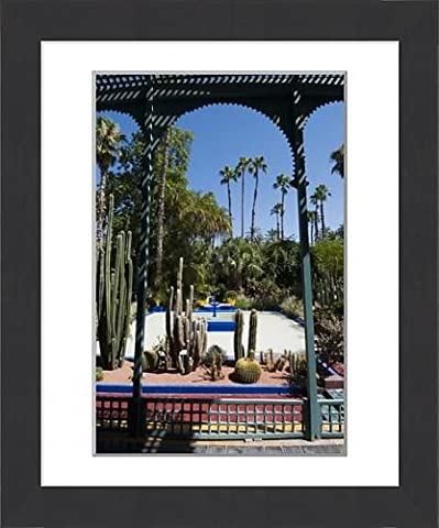 Framed Print of Majorelle Gardens, Marrakech, Morocco, North Africa, Africa