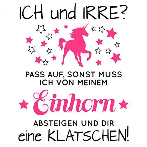 Fashionalarm Herren T-Shirt - Einhorn Ich und irre   Fun Shirt mit Spruch als Geschenk Idee für Unicorn Fans Weiß