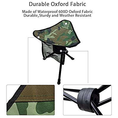 GEERTOP Folding Tripod Swivel Chair Full 360 Degree Rotation Heavy Duty Camp Stool Camping Fishing Hiking Hunting Outdoor from GEERTOP